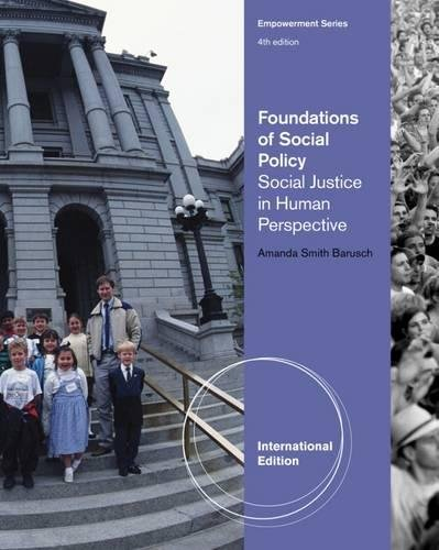 9780840034397: Foundations of Social Policy: Social Justice in Human Perspective (Brooks/Cole Empowerment)