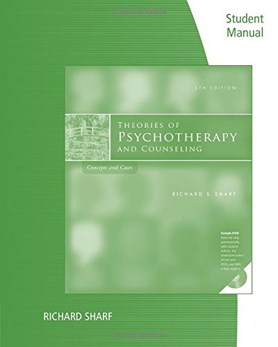9780840034748: Student Manual for Sharf's Theories of Psychotherapy & Counseling: Concepts and Cases, 5th