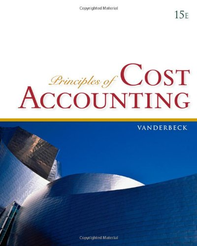9780840037039: Principles of Cost Accounting