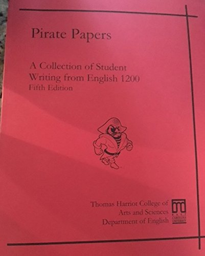 9780840046048: Pirate Papers; A Collection of Student Writing from English 1200