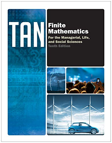 9780840048141: Finite Mathematics for the Managerial, Life, and Social Sciences, 10th Edition