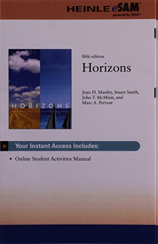 Quia, 3 terms (18 months) Printed Access Card for Manley/Smith/McMinn/Prevost's Horizons, Student Text (0840048769) by Manley, Joan H.; Smith, Stuart; McMinn, John T.; Prevost, Marc A.