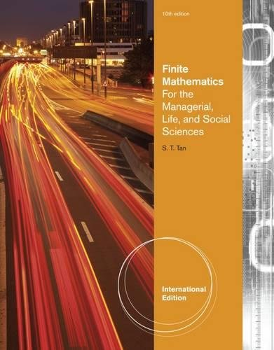 9780840049070: Finite Mathematics for the Managerial, Life, and Social Sciences. Soo Tan (International Edition)