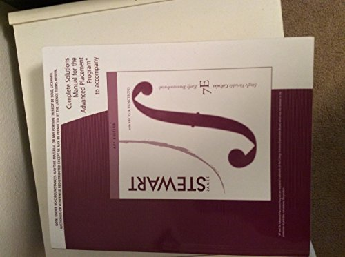 9780840049360: Complete Solutions Manual for Single Variable Calculus: Early Transcendentals, 7th Edition