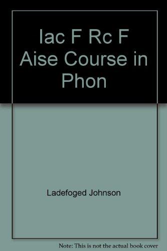 9780840050182: Iac F Rc F Aise Course in Phon