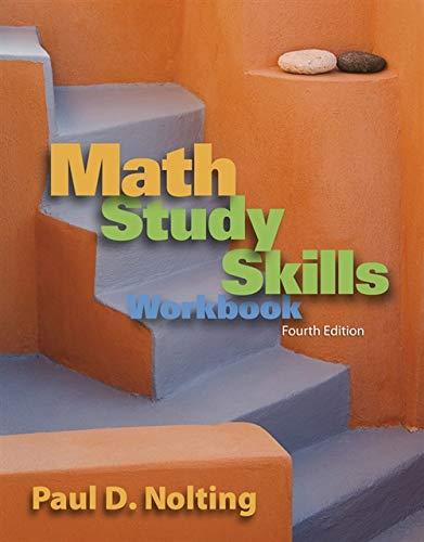 9780840053091: Math Study Skills Workbook