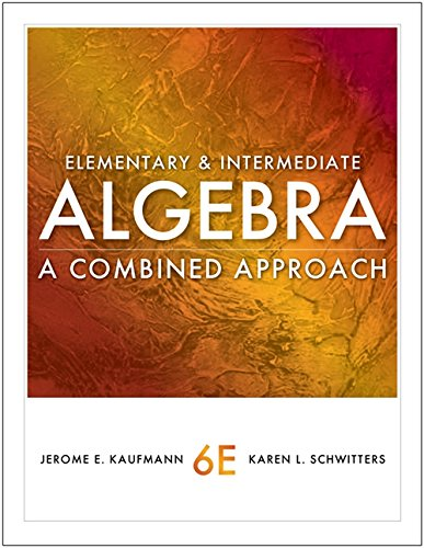 9780840053145: Elementary and Intermediate Algebra: A Combined Approach