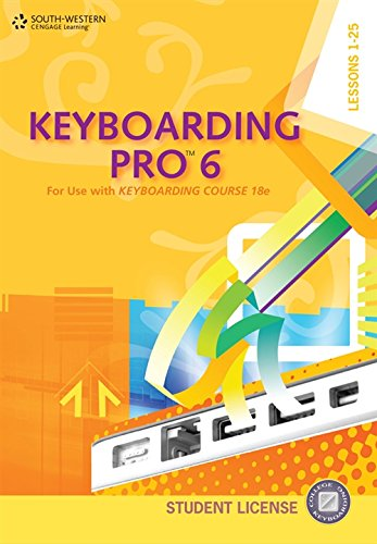 9780840053329: Keyboarding Pro 6, Student License (with User Guide and CD-ROM)