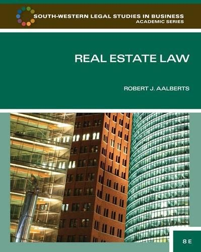 9780840053596: Real Estate Law (South-Western Legal Studies in Business Academic)