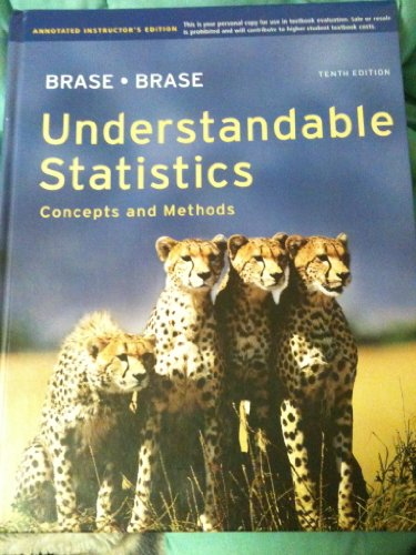 9780840054562: Understandable Statistics: Concepts and Methods
