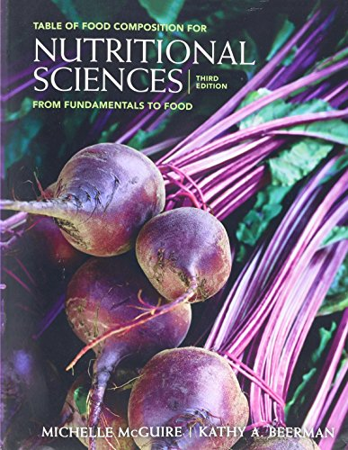 9780840058218: Table of Food Composition Booklet for McGuire/Beerman's Nutritional Sciences: From Fundamentals to Food with Table of Food Composition Booklet