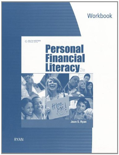 9780840058652: Workbook for Ryan's Personal Financial Literacy, 2nd