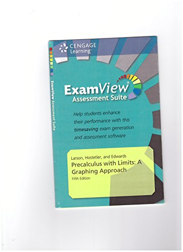 9780840062000: ExamView Assessment Suite Precalculus with Limits: A Graphing Approach, 5th Edition