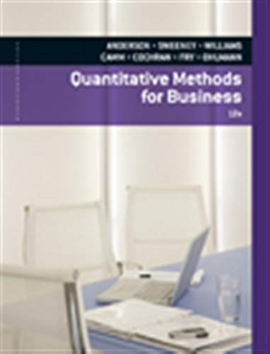 Quantitative Methods for Business (with Printed Access Card): Anderson, David R.; Sweeney, Dennis J...