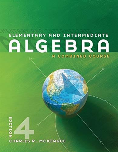 9780840064196: Elementary and Intermediate Algebra