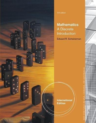 9780840065285: Mathematics: A Discrete Introduction