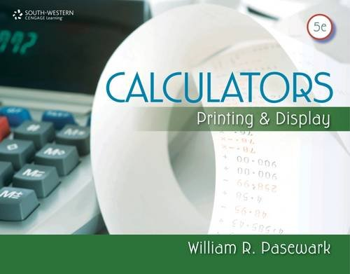 9780840065353: Calculators: Printing and Display (Business Calculations)
