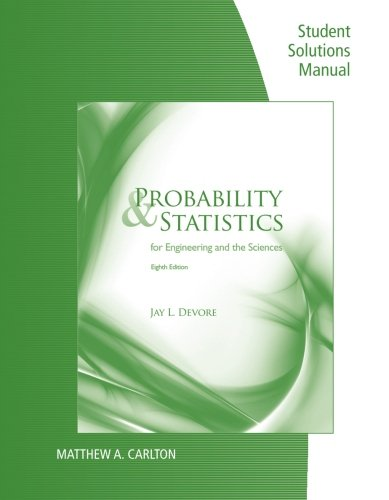 9780840065391: Student Solutions Manual for Devore's Probability and Statistics for Engineering and Science, 8th