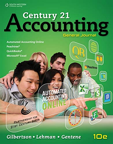 Century 21 Accounting Chapter 11 Answers