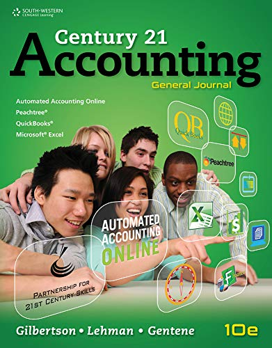 9780840065476: Working Papers, Chapters 1-17 for Gilbertson/Lehman/Gentene's Century 21 Accounting: General Journal, 10th