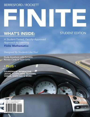 9780840065551: FINITE (with Mathematics CourseMate with eBook Printed Access Card)