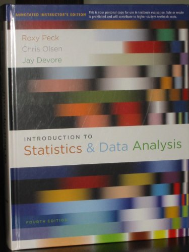 9780840068385: Introduction to Statistics & Data Analysis, 4th Edition