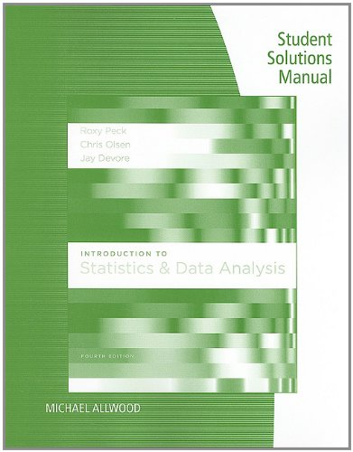 9780840068408: Student Solutions Manual for Peck/Olsen/Devore's Introduction to Statistics and Data Analysis, 4th