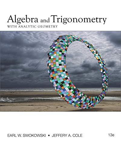 9780840068521: Algebra and Trigonometry with Analytic Geometry (College Algebra and Trigonometry)