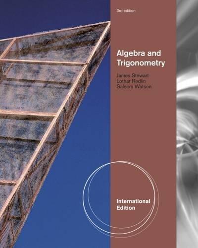 9780840068637: Algebra and Trigonometry. by James Stewart, Lothar Redlin, Saleem Watson