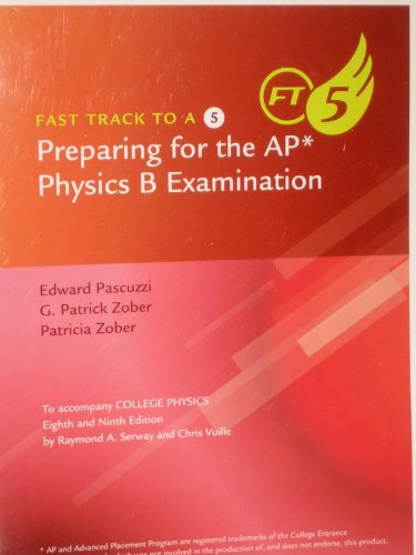 9780840068781: Fast Track to a 5-Preparing for the AP Physics B Examination