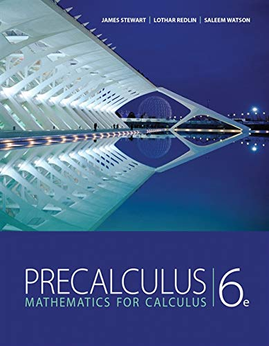 9780840068798: Student Solutions Manual for Stewart/Redlin/Watson's Precalculus: Mathematics for Calculus, 6th
