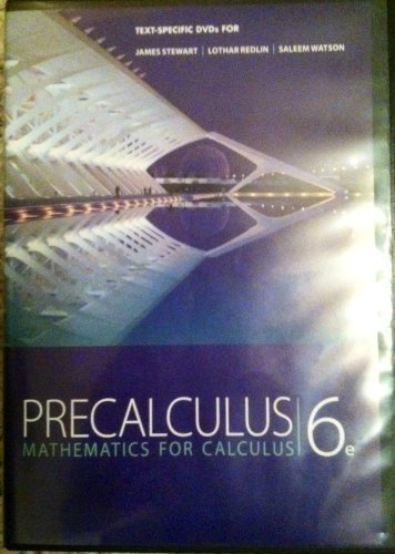 9780840068828: Text Specific DVDs for Precalculus Mathematics for Calculus 6e