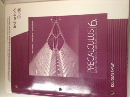 9780840068835: Inst Gd Precal Math Calc 6e