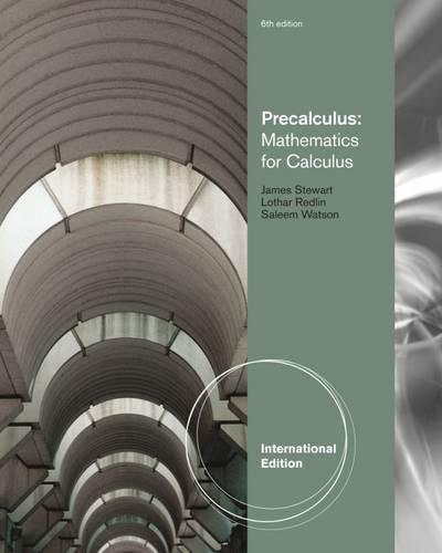 9780840068866: Precalculus: Mathematics for Calculus, International Edition