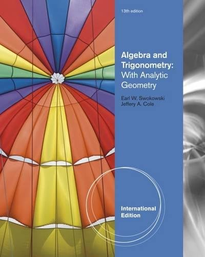 9780840068897: Algebra and Trigonometry with Analytic Geometry, International Edition