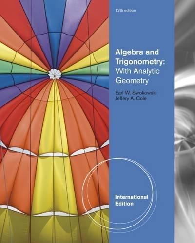 9780840068897: Algebra and Trigonometry with Analytic Geometry, International Edition