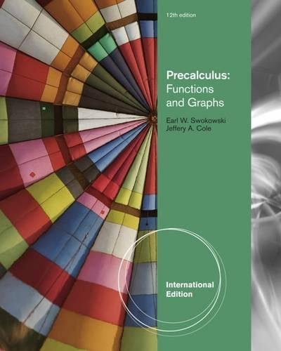 9780840068903: Precalculus: Functions and Graphs, International Edition
