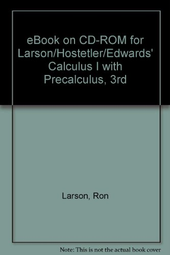 Ron larson calculus precalculus abebooks ebook on cd rom for larsonhostetleredwards calculus fandeluxe Images