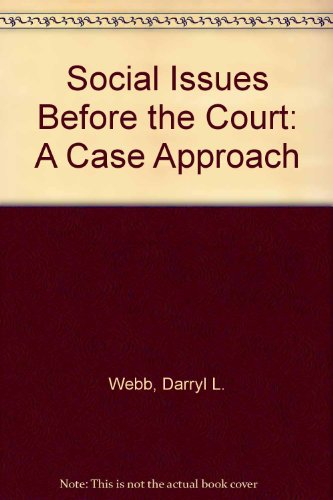 9780840313959: Social issues before the court: A case approach