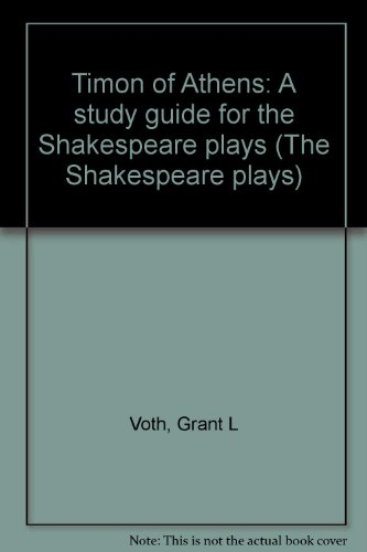 9780840325662: Timon of Athens: A study guide for the Shakespeare plays