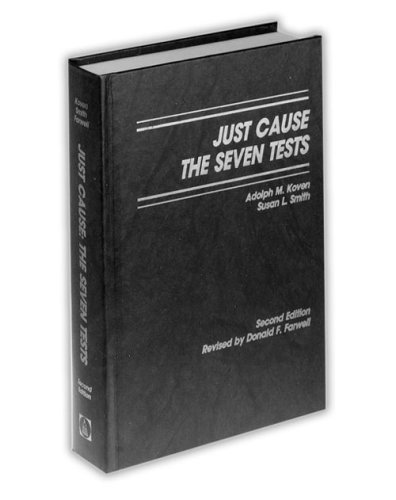 9780840334770: Just Cause: The Seven Tests (Blackacre Series on Discipline and Discharge)