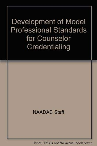 9780840339270: Development of model professional standards for counselor credentialing
