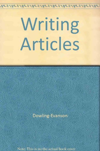 9780840358516: Writing articles: A guide to publishing in your profession