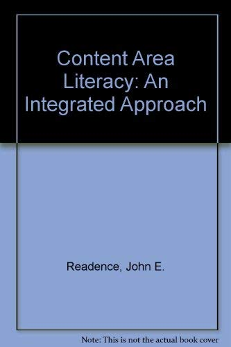 9780840393821: Content Area Literacy: An Integrated Approach
