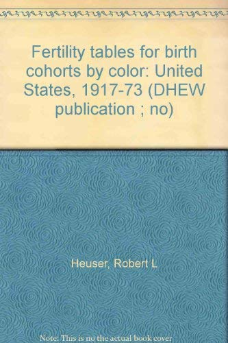Fertility Tables for Birth Cohorts By Color: United States, 1917 -73, DHEW Publication No. (HRA) ...