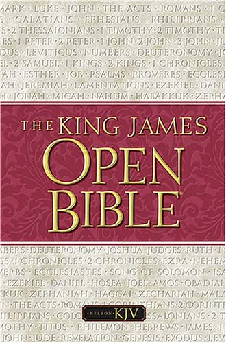 9780840704153: Holy Bible: The Open Bible, Expanded Edition, King James Version, Black Bondedleather