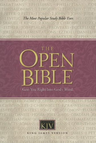 9780840704184: Holy Bible: Open Bible, King James Version, Burgundy Bonded Leather, Indexed