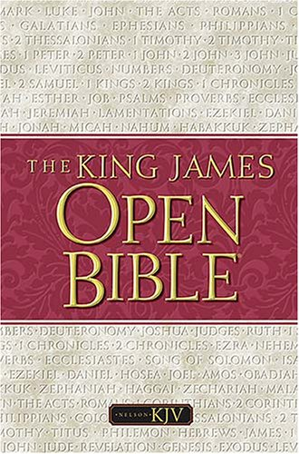 9780840704214: Holy Bible: Open Bible, King James Version, Black Genuine Leather