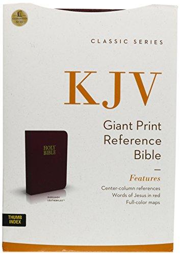 9780840704801: Giant Print Reference Bible-KJV-Center Column