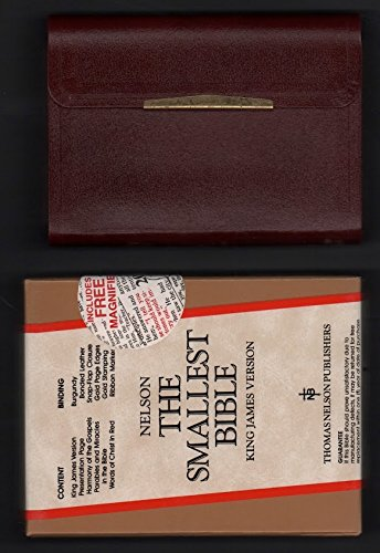 9780840705570: The Smallest Bible (Burgandy, with Snap Flap Closing)